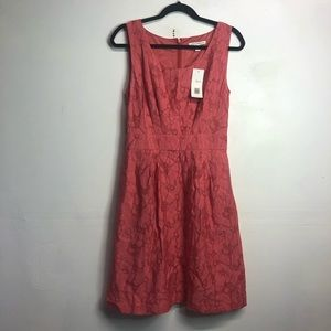 Banana republic for and flare pink dress size 4